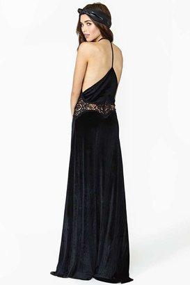 Nasty Gal Jarlo Siobhan Velvet Maxi Dress