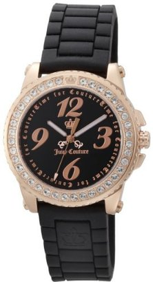 Juicy Couture Women's 1900724 Pedigree Black Jelly Strap Watch $195 thestylecure.com