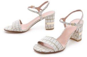 Stuart Weitzman Solo Low Heel Sandals