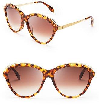 Alexander McQueen Studded Round Oversized Sunglasses