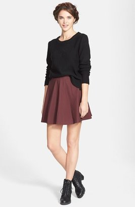 Lily White Faux Leather Skater Skirt (Juniors)