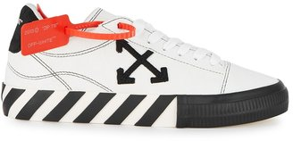 Off-White Low Vulcanized White Suede Sneakers