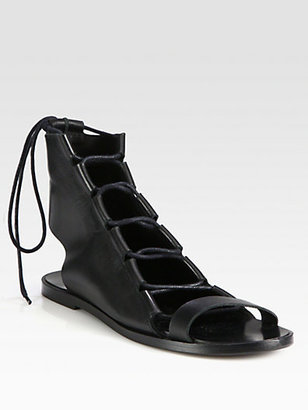 Pierre Hardy Leather Lace-Up Sandals
