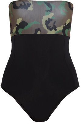 Beth Richards Polly camouflage-print bandeau swimsuit
