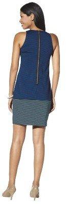 Merona Petites Sleeveless Ponte Dress - Navy Blue