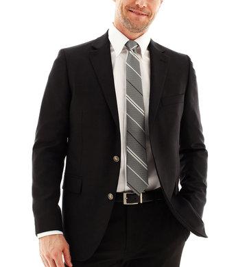 JCPenney Stafford Executive Hopsack Blazer - Slim Fit