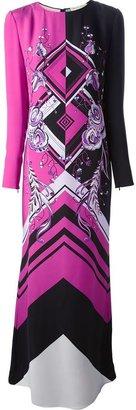 Emilio Pucci geometric print gown