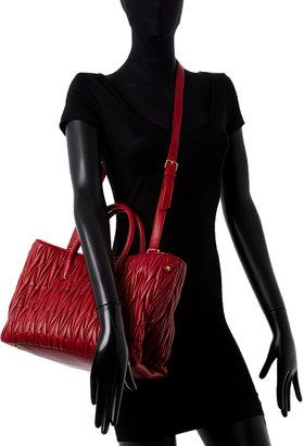 Miu Miu Matelassé Leather Medium Convertible Tote