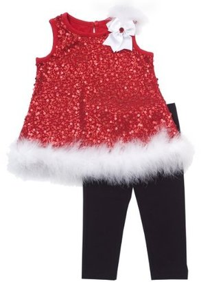 Rare Editions Baby-Girls Infant Line Top with Legging