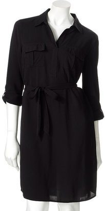 Sonoma life + style® roll-tab shirtdress