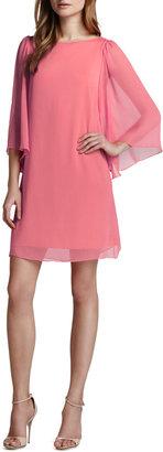 Alice + Olivia Odette Georgette Dress, Pink Icing