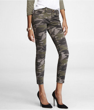 Express Stella Colored Brushed Sateen Legging - Camouflage