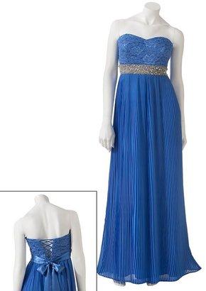 My Michelle lace rhinestone long dress - juniors
