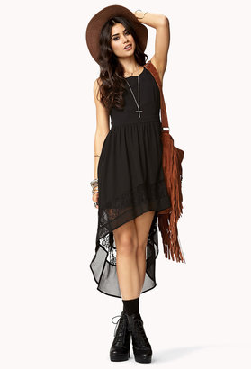 Forever 21 Lace-Trimmed High-Low Dress