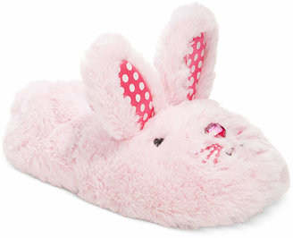 Stride Rite Little Girls' or Toddler Girls' Fuzzy Bunny Slippers $25 thestylecure.com