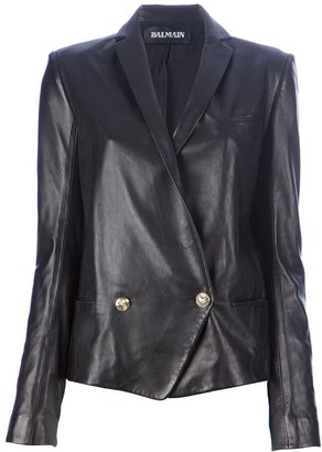 Balmain Double breasted lamb skin jacket