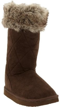 Old Navy Girls Quilted Faux-Suede Boots