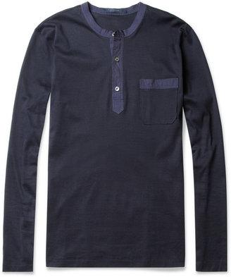 Lanvin Long-Sleeved Henley T-Shirt