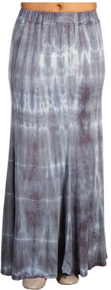 Green Dragon Wash Long Flowy Skirt (Marquina) - Apparel