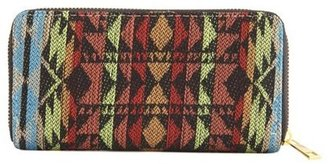 Charlotte Russe Tribal Fabric Accordion Wallet