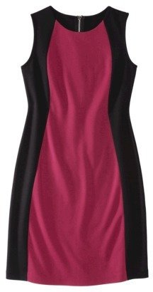 Mossimo Women's Sleeveless Ponte Color block Dress - Assorted Colors