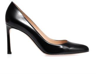 Gianvito Rossi Almond-toe leather pumps