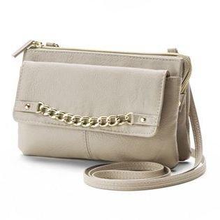 Apt. 9® Curb-Chain Crossbody Bag $36 thestylecure.com