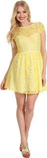 ABS by Allen Schwartz Cap Sleeve Lace Dress