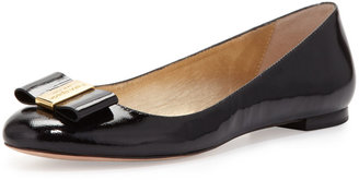 Kate Spade Thyme Patent Bow Flat, Black