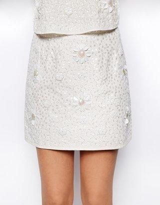 Asos Daisy Sequin Skirt
