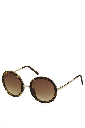 Topshop 60'S Oval Sunglasses