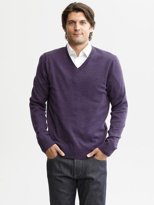 Banana Republic Extra-fine merino wool v-neck sweater