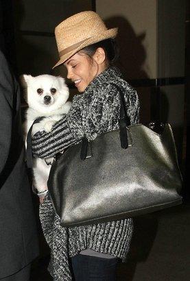 Hat Attack Raffia Classic Fedora with Wide Leather Trim as Seen On Jenna Dewan-Tatum