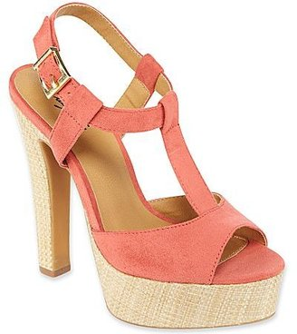 JCPenney City Streets® Tamara T-Strap Sandals Coral