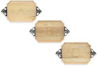 Bed Bath & Beyond Chubbco Monogrammed Hard Maple Cutting Board With Handles
