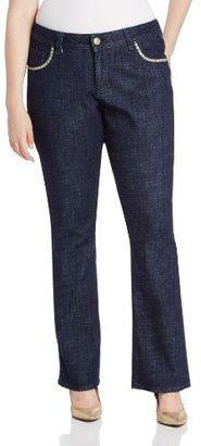 Lee Women's Plus-Size Slender Secret Astrid Barely Bootcut Jean