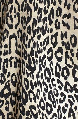 Vince Camuto Chiffon Trim Leopard Print Top