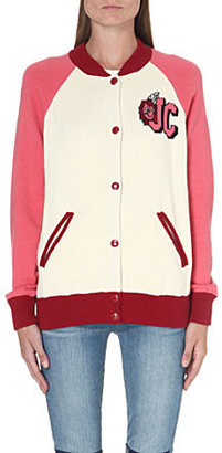 Juicy Couture Varsity knitted bomber jacket