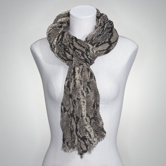 Jones New York Python Crinkle Scarf