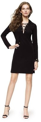 Juicy Couture Matte Jersey Lace-Up Dress