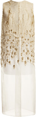 Giambattista Valli Embellished Woven Dress