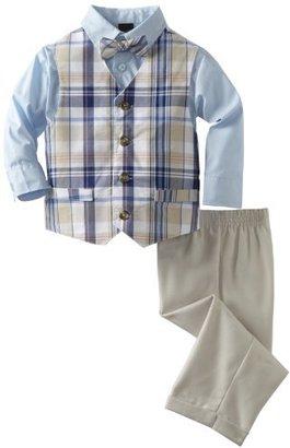 Nautica Dress Up Boys 2-7 Gustav Plaid Vest Set