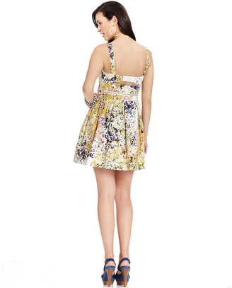 GUESS Dress, Sleeveless Floral-Print Two-Piece