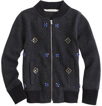 J.Crew Girls' jeweled bomber jacket