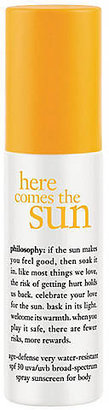 philosophy here comes the sun: spf30 anti-aging spray for face & body 3.4oz