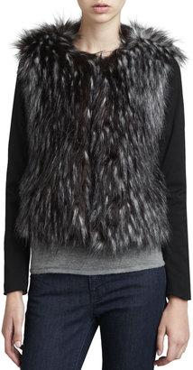Ella Moss Long-Sleeve Faux-Fur Jacket