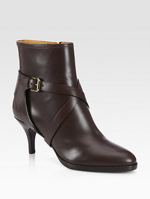 Ralph Lauren Diana Leather Ankle Boots