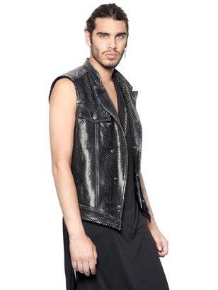 Tom Rebl Python Leather Sleeveless Jacket