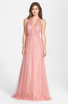 Women's Jenny Yoo 'Annabelle' Convertible Tulle Column Dress $260 thestylecure.com