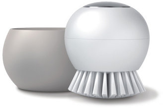 Silicone Zone Scrub Brush Gray White